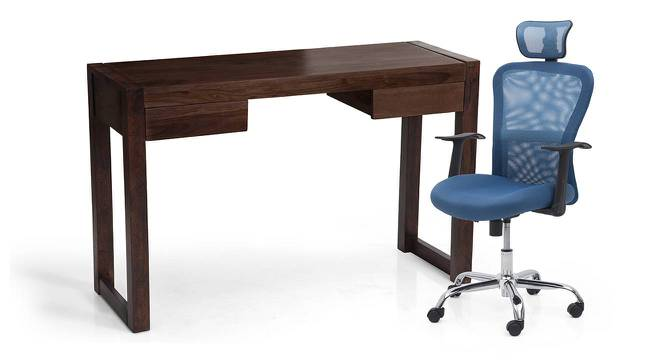 Austen - Venturi Study Set (Mahogany Finish, Aqua) by Urban Ladder - Full View Design 1 - 195939
