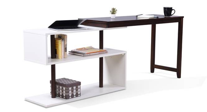 Tolstoy - Ray Study Set (White, Dark Walnut Finish) by Urban Ladder