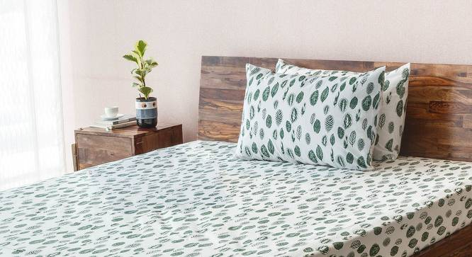 Bloomingdale Bedsheet Set (Double Size, Calathea Pattern) by Urban Ladder