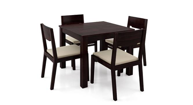 Arabia - Kerry Square 4 Seater Dining Table Set (Mahogany Finish, Wheat Brown) by Urban Ladder
