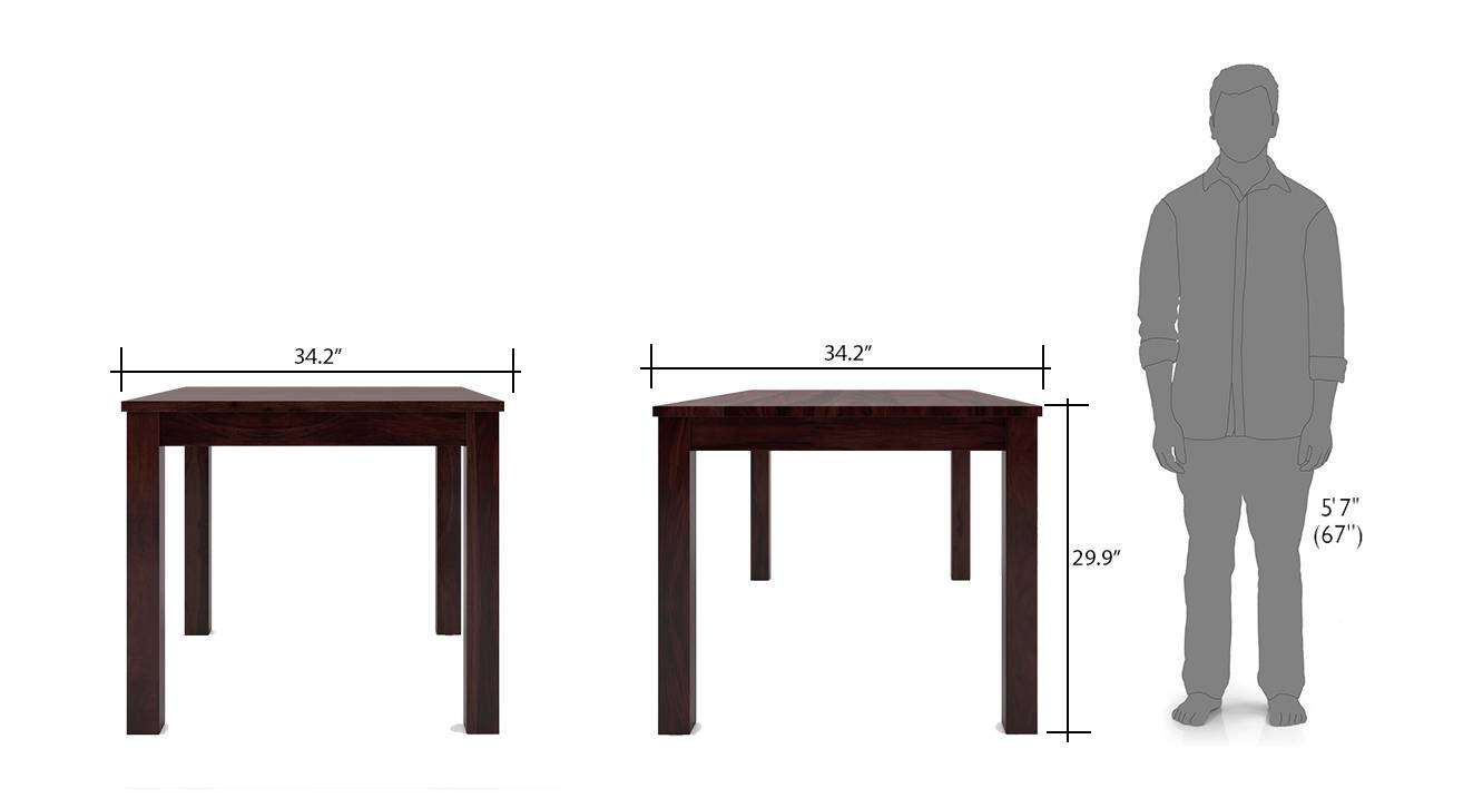 Arabia kerry square 4 seater dining table set mh wb 8
