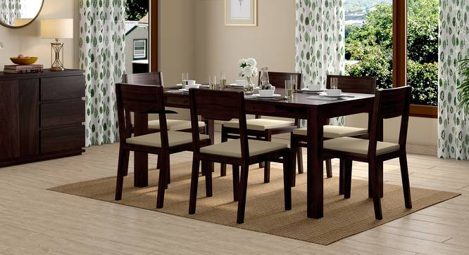 Arabia XL Storage - Kerry 6 Seater Dining Table Set (Mahogany Finish, Wheat Brown) by Urban Ladder - Design 1 Full View - 196325