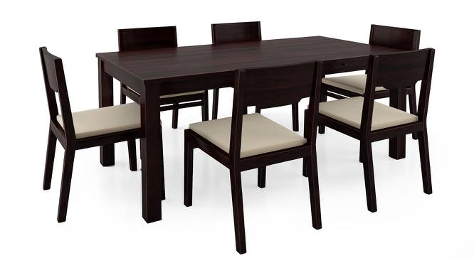 Arabia XL Storage - Kerry 6 Seater Dining Table Set (Mahogany Finish, Wheat Brown) by Urban Ladder - Front View Design 1 - 196326