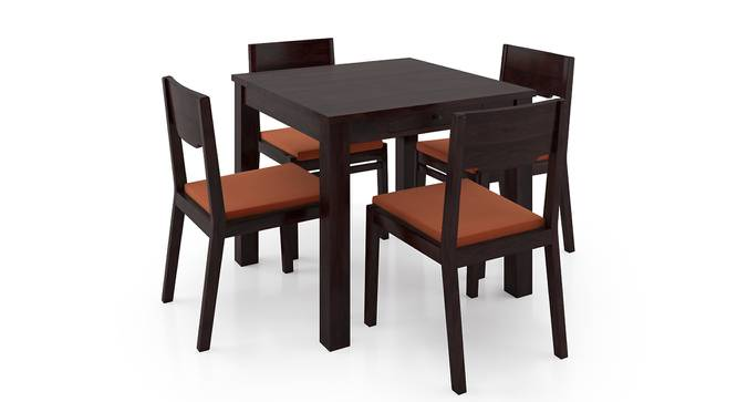 Arabia Storage - Kerry 4 Seater Dining Table Set (Mahogany Finish, Burnt Orange) by Urban Ladder - Front View Design 1 - 196457