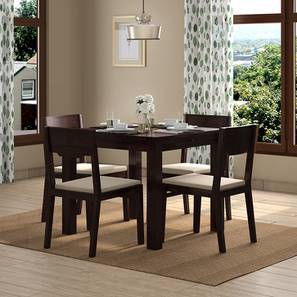 Arabia Storage - Kerry 4 Seater Dining Table Set (Mahogany Finish, Wheat Brown) by Urban Ladder - Design 1 Full View - 196467