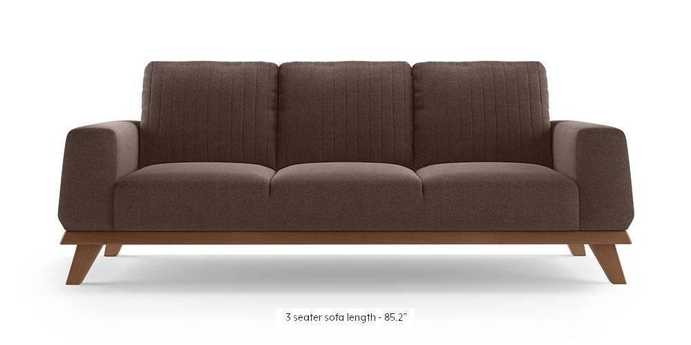 Granada Sofa (Daschund Brown) by Urban Ladder