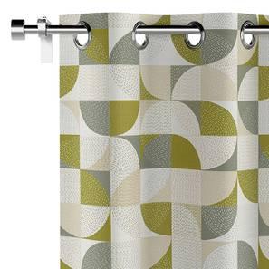 Colour block door curtains lp