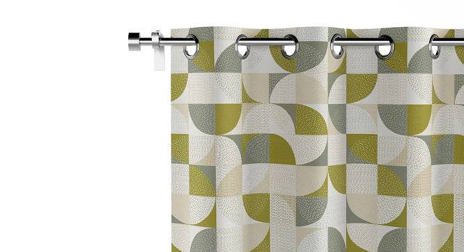 "Colour Block Door Curtains - Set Of 2 (54""x84"" Curtain Size, Curves & Lines) by Urban Ladder"