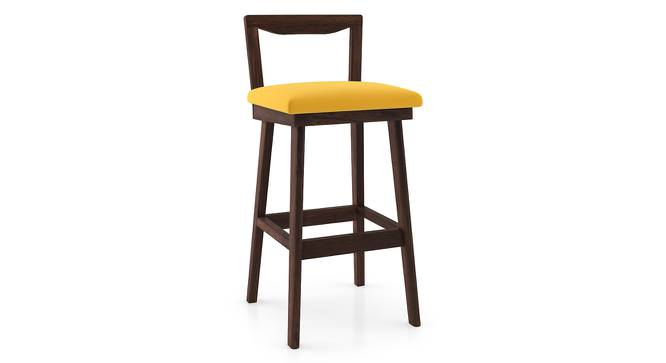 Homer Bar Stool (Walnut Finish, Yellow) by Urban Ladder - Cross View Design 1 - 197117