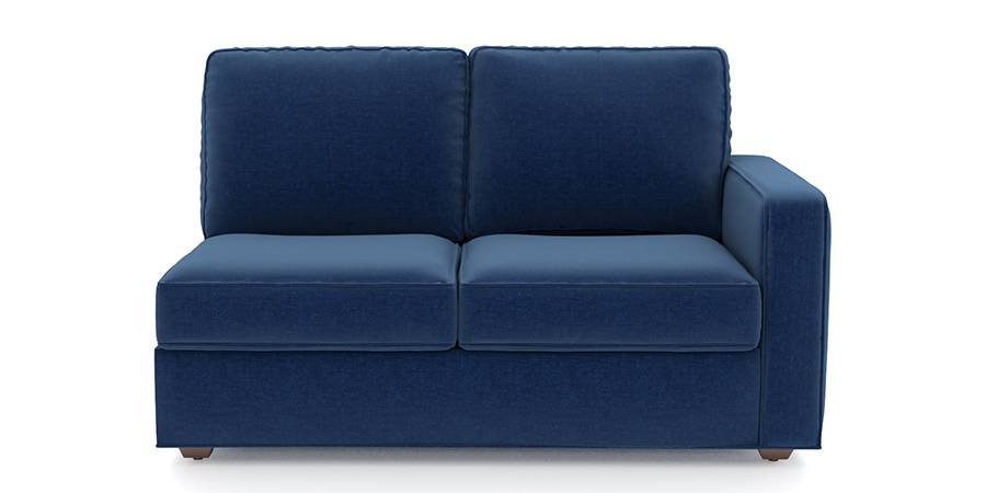 Apollo Sofa Set (Cobalt, Fabric Sofa Material, Compact Sofa Size, Firm Cushion Type, Sectional Sofa Type, Left Aligned 2 Seater Sofa Component) by Urban Ladder