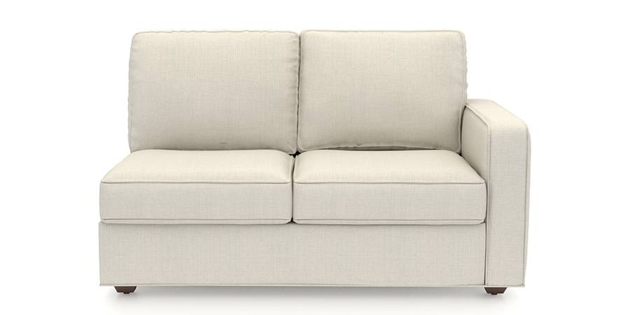 Apollo Sofa Set (Pearl, Fabric Sofa Material, Compact Sofa Size, Firm Cushion Type, Sectional Sofa Type, Left Aligned 2 Seater Sofa Component) by Urban Ladder