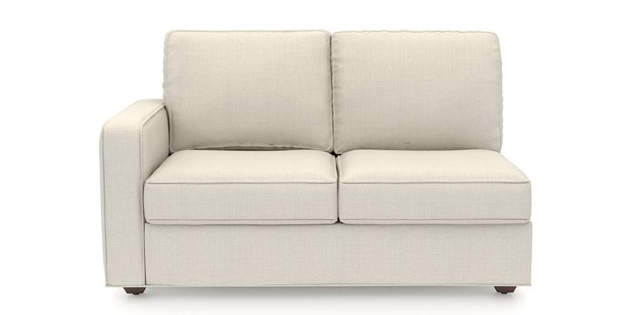 Apollo Sofa Set (Pearl, Fabric Sofa Material, Compact Sofa Size, Soft Cushion Type, Sectional Sofa Type, Right Aligned 2 Seater Sofa Component) by Urban Ladder