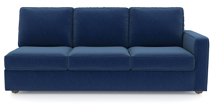 Apollo Sofa Set (Cobalt, Fabric Sofa Material, Regular Sofa Size, Soft Cushion Type, Sectional Sofa Type, Left Aligned 3 Seater Sofa Component) by Urban Ladder
