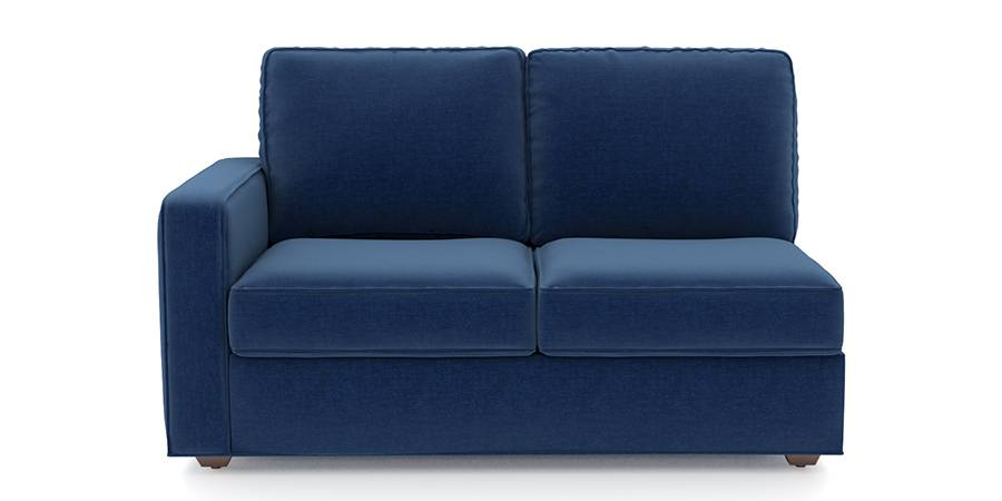 Apollo Sofa Set (Cobalt, Fabric Sofa Material, Regular Sofa Size, Soft Cushion Type, Sectional Sofa Type, Right Aligned 2 Seater Sofa Component) by Urban Ladder