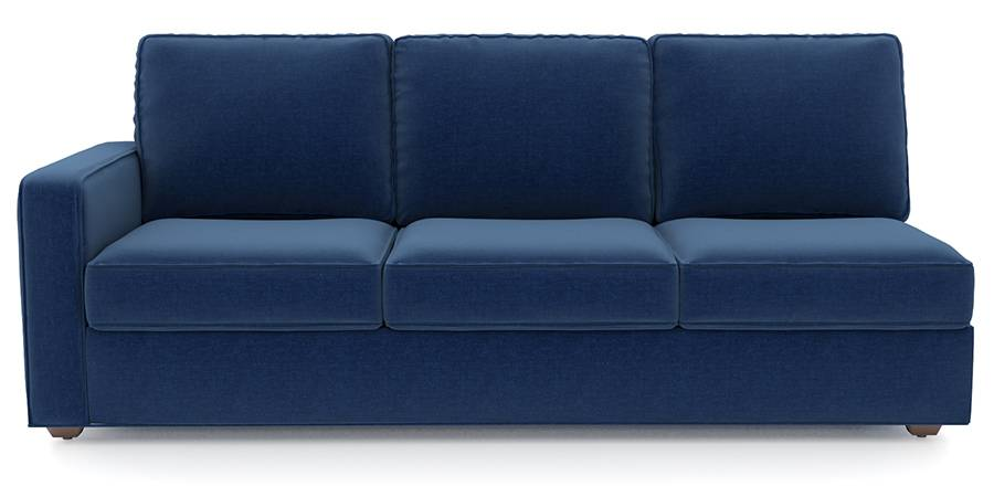 Apollo Sofa Set (Cobalt, Fabric Sofa Material, Regular Sofa Size, Soft Cushion Type, Sectional Sofa Type, Right Aligned 3 Seater Sofa Component, Regular Back Type, Regular Back Height) by Urban Ladder - Design 1 - 198200