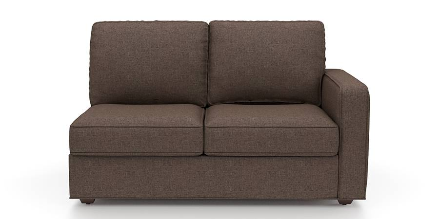 Apollo Sofa Set (Mocha, Fabric Sofa Material, Regular Sofa Size, Soft Cushion Type, Sectional Sofa Type, Left Aligned 2 Seater Sofa Component) by Urban Ladder