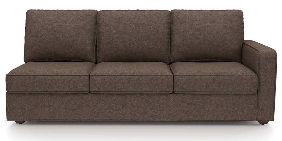 Apollo Sofa Set (Mocha, Fabric Sofa Material, Regular Sofa Size, Firm Cushion Type, Sectional Sofa Type, Left Aligned 3 Seater Sofa Component) by Urban Ladder