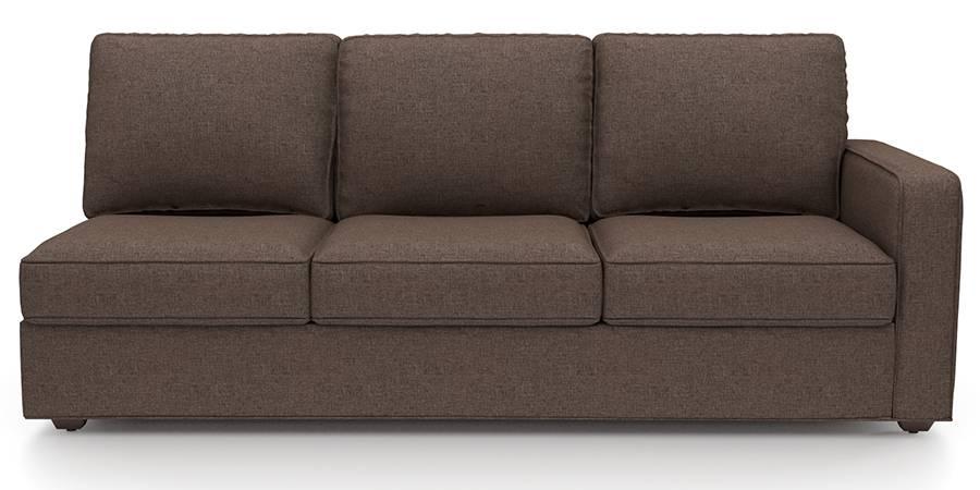 Apollo Sofa Set (Mocha, Fabric Sofa Material, Regular Sofa Size, Soft Cushion Type, Sectional Sofa Type, Left Aligned 3 Seater Sofa Component) by Urban Ladder