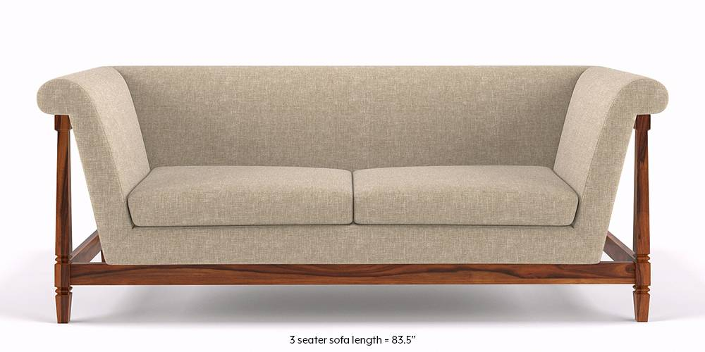 Malabar Wooden Sofa (Macadamia Brown) (None Standard Set - Sofas, Right Aligned Chaise Custom Set - Sofas, Macadamia Brown, Fabric Sofa Material, Regular Sofa Size, Soft Cushion Type, Regular Sofa Type) by Urban Ladder - - 198907