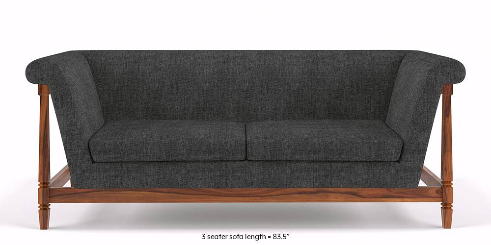 Malabar Wooden Sofa (Smoke Grey) by Urban Ladder