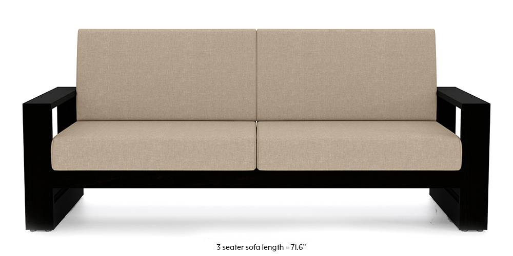 Savannah Wooden Sofa (Macadamia Brown) (1-seater Custom Set - Sofas, None Standard Set - Sofas, Macadamia Brown, Fabric Sofa Material, Regular Sofa Size, Soft Cushion Type, Regular Sofa Type) by Urban Ladder - - 199133