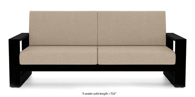 Savannah Wooden Sofa (Macadamia Brown) (1-seater Custom Set - Sofas, None Standard Set - Sofas, Macadamia Brown, Fabric Sofa Material, Regular Sofa Size, Soft Cushion Type, Regular Sofa Type)