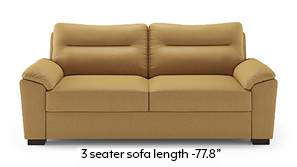Adelaide Compact Leatherette Sofa (Butterscotch)