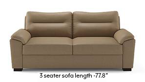Adelaide Compact Leatherette Sofa (Cappuccino)