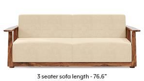 Serra Wooden Sofa - Teak Finish (Birch Beige)