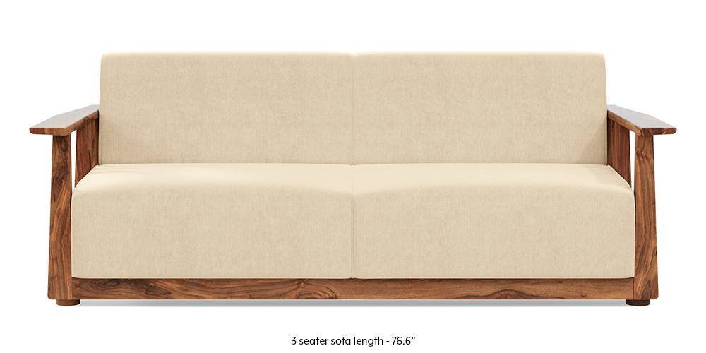 Serra Wooden Sofa - Teak Finish (Birch Beige) by Urban Ladder