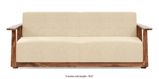 Serra Wooden Sofa - Teak Finish (Birch Beige) (1-seater Custom Set - Sofas, None Standard Set - Sofas, Fabric Sofa Material, Regular Sofa Size, Soft Cushion Type, Regular Sofa Type, Birch Beige)