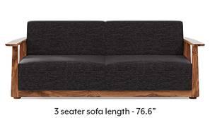 Serra Wooden Sofa - Teak Finish (Cosmic Grey)