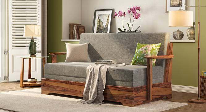 Mahim Sofa Cum Bed (Flint Grey, Without Storage Arm) by Urban Ladder