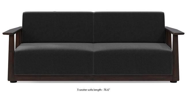 Serra Wooden Sofa - Mahogany Finish (Pebble Grey) (2-seater Custom Set - Sofas, None Standard Set - Sofas, Fabric Sofa Material, Regular Sofa Size, Soft Cushion Type, Regular Sofa Type, Pebble Grey)