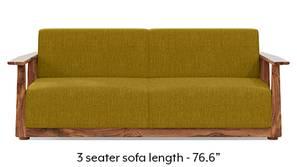 Serra Wooden Sofa - Teak Finish (Olive Green)