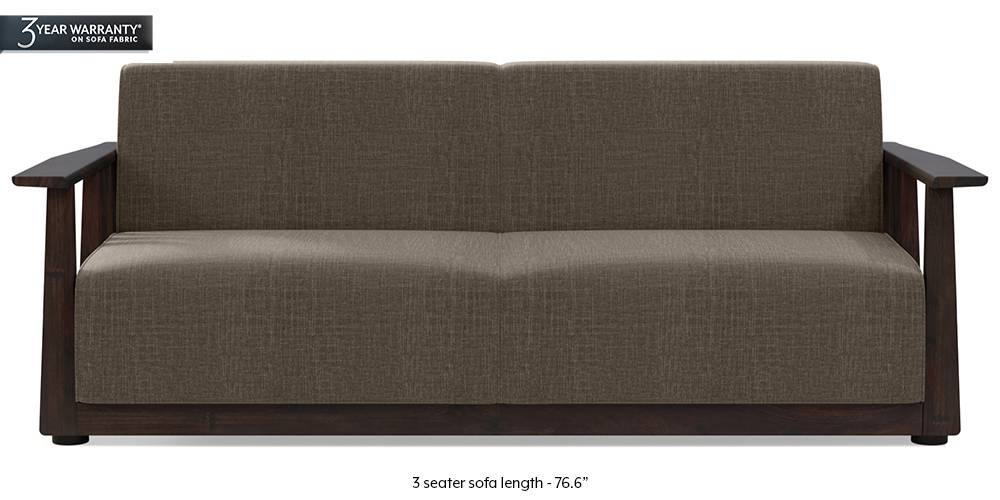 Serra Wooden Sofa - Mahogany Finish (Pine Brown) (2-seater Custom Set - Sofas, None Standard Set - Sofas, Fabric Sofa Material, Regular Sofa Size, Soft Cushion Type, Regular Sofa Type, Pine Brown) by Urban Ladder