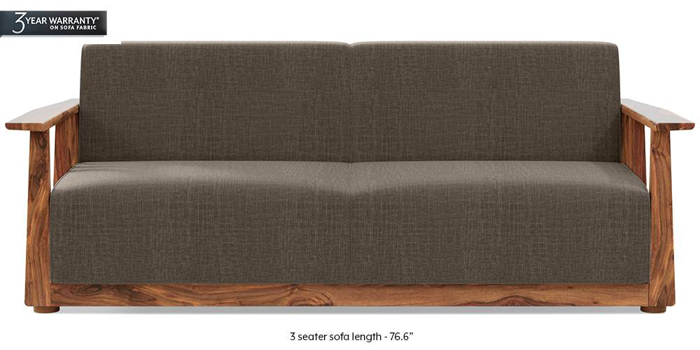 Serra Wooden Sofa - Teak Finish (Pine Brown) (1-seater Custom Set - Sofas, 2-seater Custom Set - Sofas, None Standard Set - Sofas, None Standard Set - Sofas, Fabric Sofa Material, Fabric Sofa Material, Regular Sofa Size, Regular Sofa Size, Soft Cushion Type, Soft Cushion Type, Regular Sofa Type, Regular Sofa Type, Pine Brown, Pine Brown) by Urban Ladder