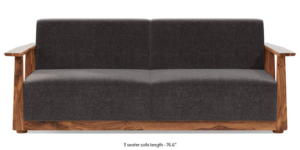 newSerra Wooden Sofa - Teak Finish (Smoke Grey) by Urban Ladder