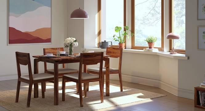 Catria - Kerry 4 Seater Dining Set (Teak Finish, Wheat Brown) by Urban Ladder