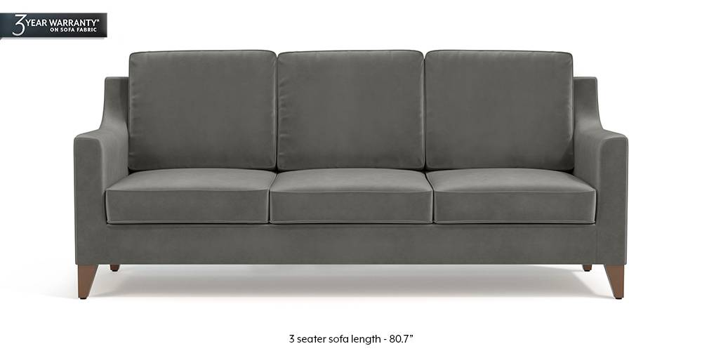 Bexley Sofa (Ash Grey Velvet) by Urban Ladder
