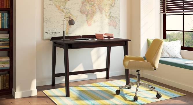 Larsson Study Table (Mahogany Finish) by Urban Ladder