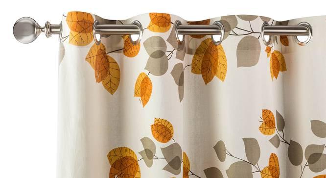 "Amoga Window Curtains - Set Of 2 (Amoga Ochre - Evening Mist, 54"" x 60"" Curtain Size) by Urban Ladder"
