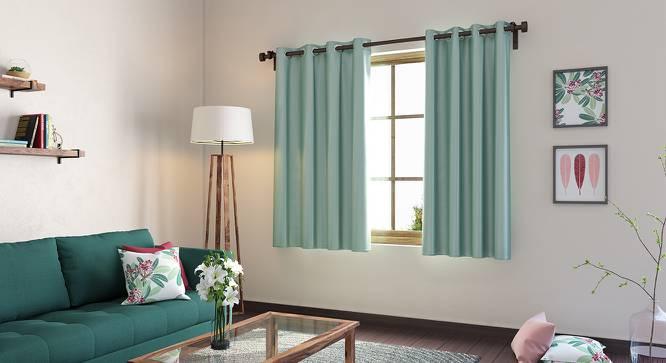 "Umbra Blackout Window Curtains - Set Of 2 (Aqua, 54"" x 60"" Curtain Size) by Urban Ladder"