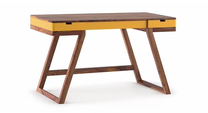Truman Study Table (Teak Finish, Passion Flower) by Urban Ladder - Cross View Design 1 - 201803