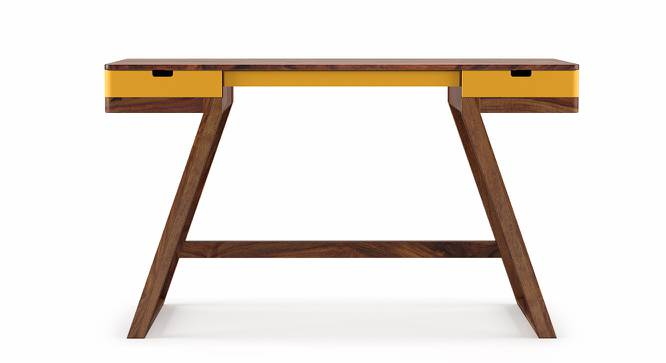 Truman Study Table (Teak Finish, Passion Flower) by Urban Ladder - Front View Design 1 - 201804