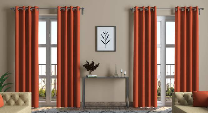 "Ethos Curtains - Set Of 2 (Amber, Door Curtain Type, 54"" x 108"" Curtain Size) by Urban Ladder"