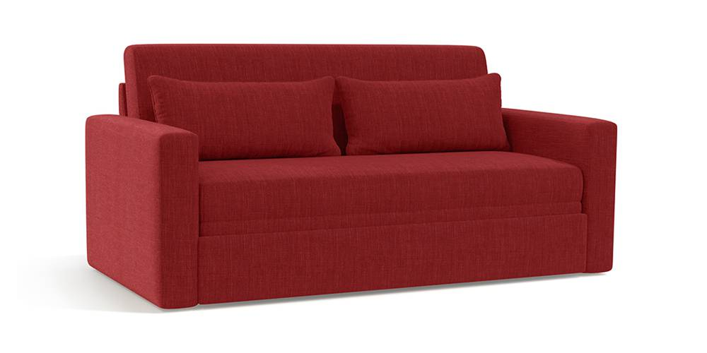 Apollo Sofa Cum Bed (Salsa Red) by Urban Ladder