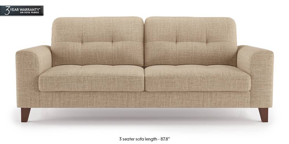Verona Sofa (Sandshell Beige) (1-seater Custom Set - Sofas, None Standard Set - Sofas, Fabric Sofa Material, Regular Sofa Size, Regular Sofa Type, Sandshell Beige) by Urban Ladder - - 202378
