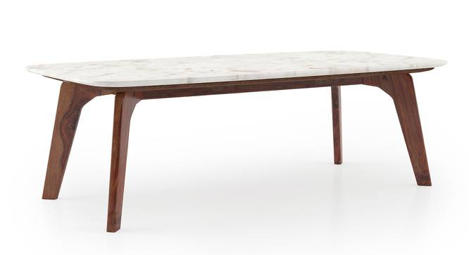 Galatea Marble Coffee Table (Teak Finish) by Urban Ladder