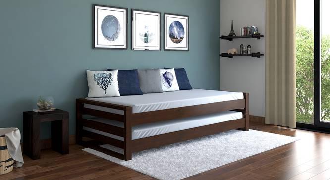Yuri Stackable Bed with Mattress (Dark Walnut Finish) by Urban Ladder